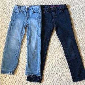 Girls lot of jeans size 9/10